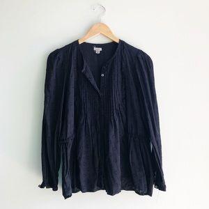 U.O. Ecoté | Black Tunic Long Sleeve Blouse